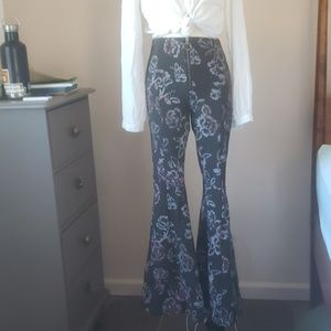 Free people flare disco pants